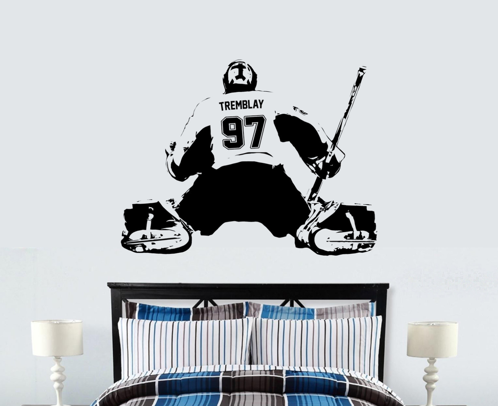 ... CUSTOM Personalized Goalie Wall Decal   14 Colors   EXTREMELY LIMITED  ... Part 88