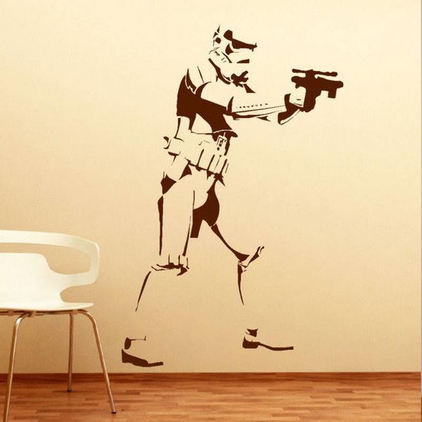 3D Shooting Storm Trooper Wall Decal