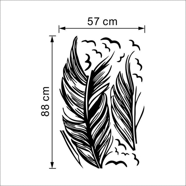 3D Wind Blown Feather Decal