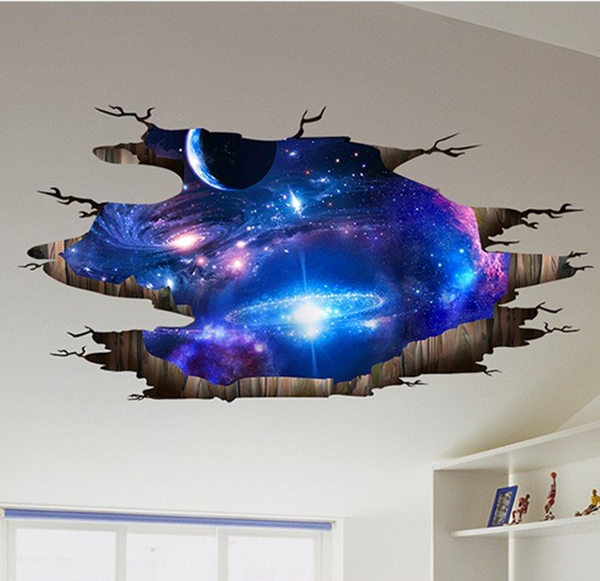3D Milky Way Ceiling Floor Decal