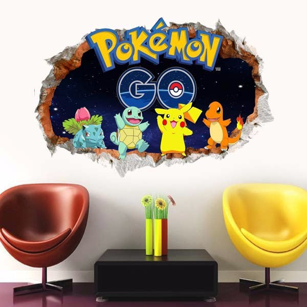 3D Pokemon Wall Decals - Limited Edition