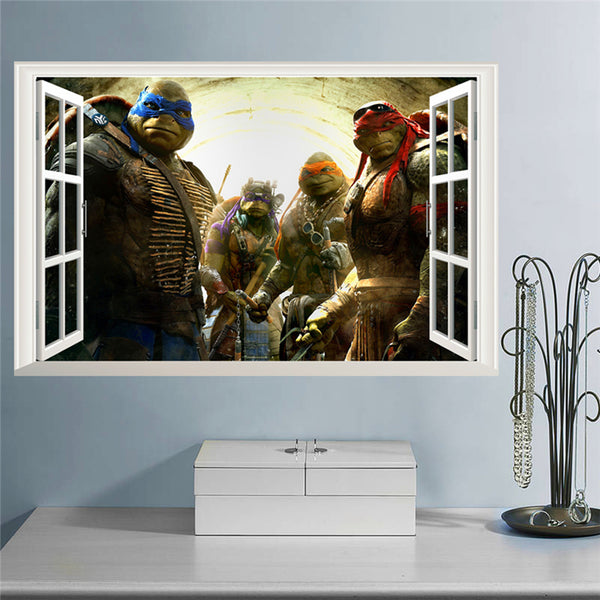 Ninja Turtles Window Wall Decal