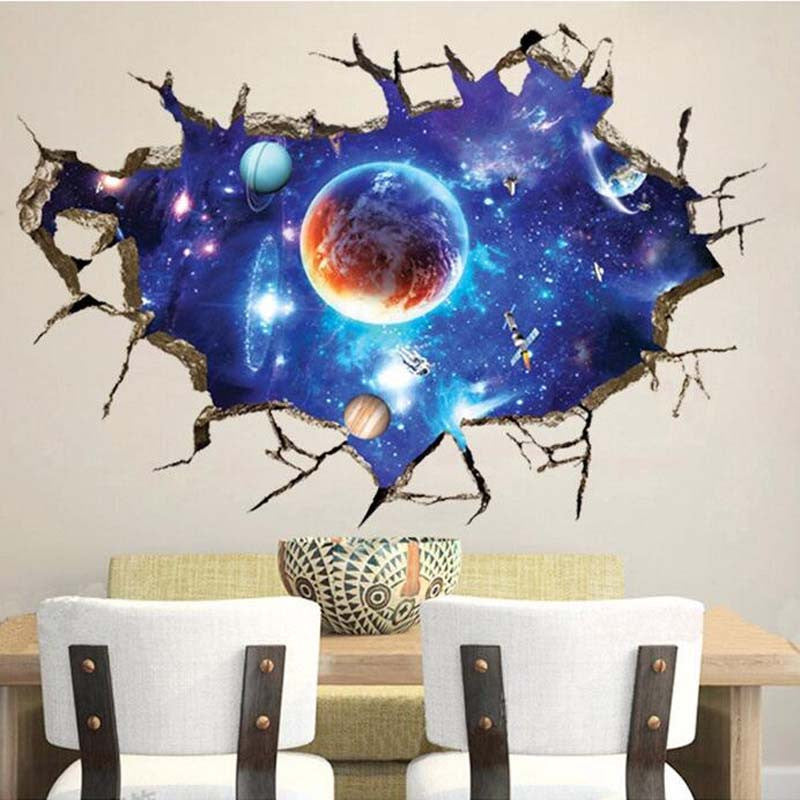 Magnificent 3D Outer Space Wall Decal