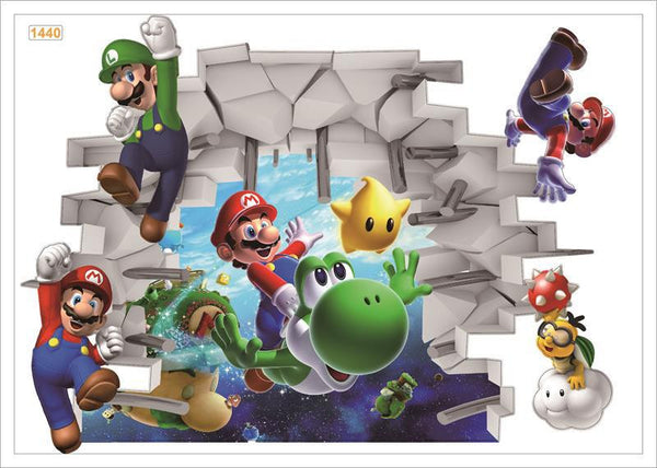 Super Mario Bros Wall Decals – Limited Edition B