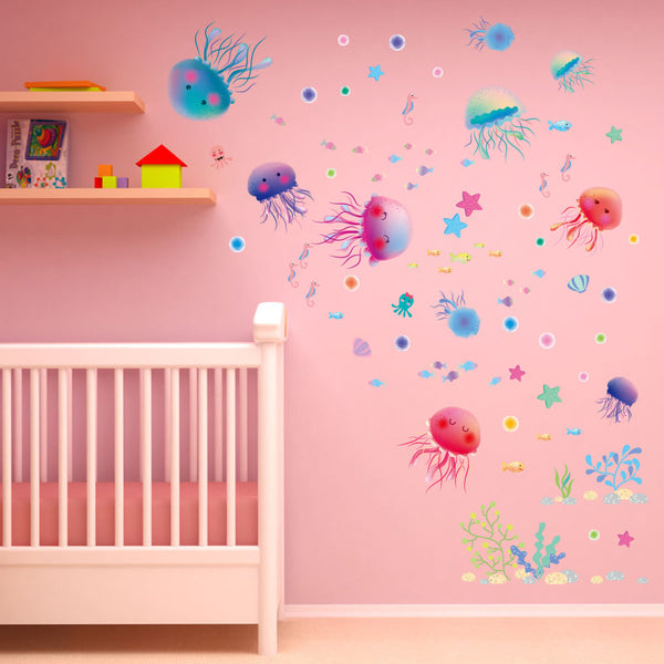 Lovely Jellyfish Wall Decals.