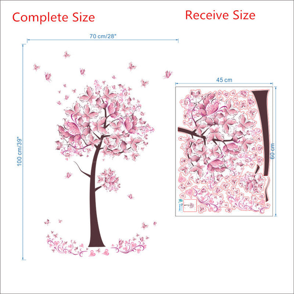 Sweet Butterflies Tree Wall Mural