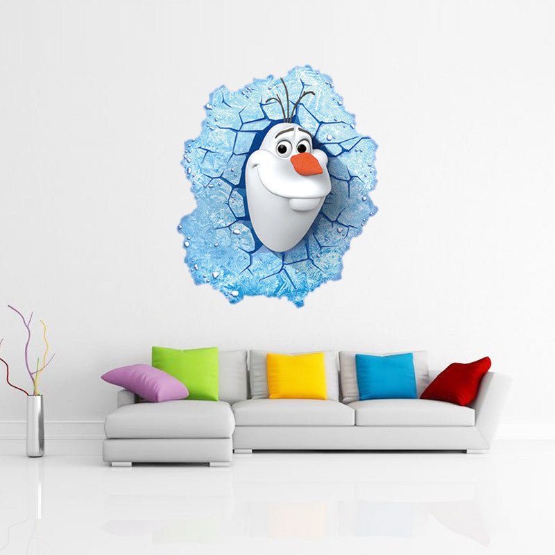 Frozen Wall Decals Olaf Through Window The Decal House