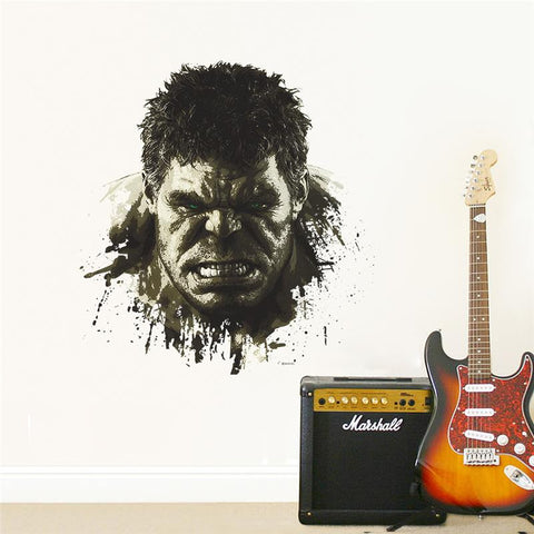 INCREDIBLE 3D HULK HEAD THROUGH WALL DECAL – EXTREMELY LIMITED!