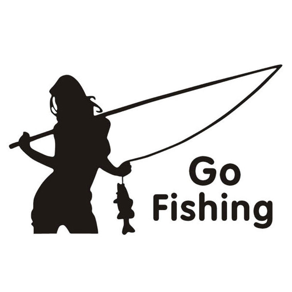 GO FISHING Beauty Decal