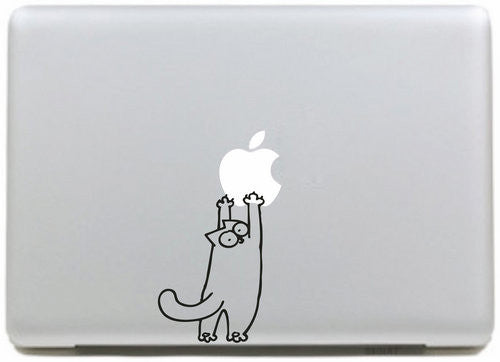 Simon Cat Playing With Apple MacBook Decal