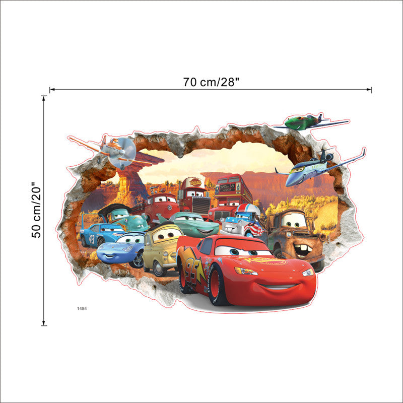 3D Disney Pixar's Cars Wall Decals