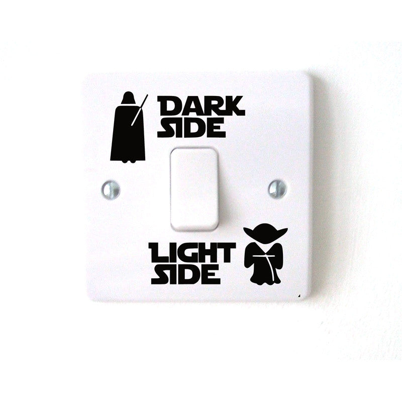 Dark Light Side Star Vinyl Switch Decals - LIMITED EDITION