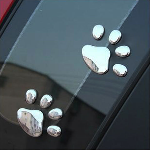 3D Paw Prints Car Decal
