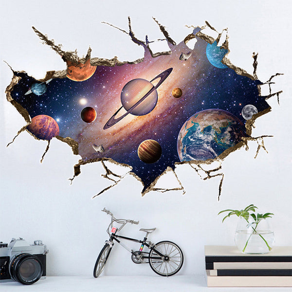 3D Planet Mural Decal