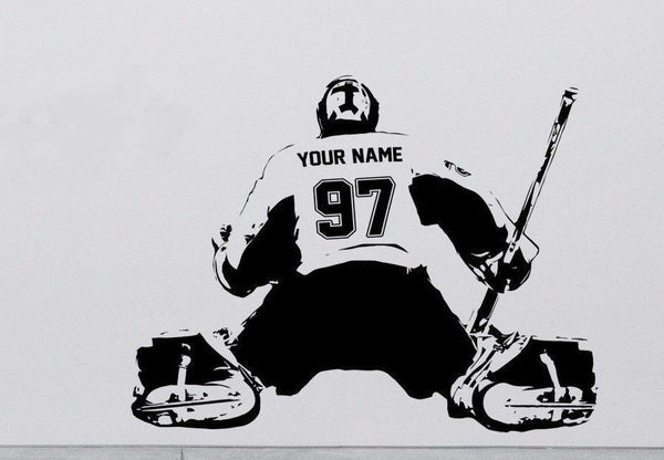 CUSTOM Personalized Goalie Wall Decal - 14 Colors - EXTREMELY LIMITED