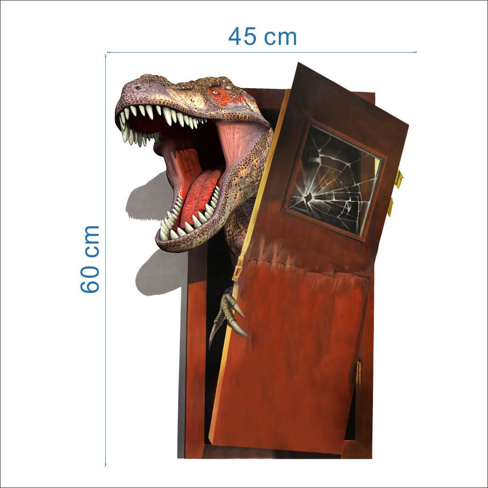 ... 3D Dinosaur Through Door Wall Decal & 3D Dinosaur Through Door Wall Decal \u2013 The Decal House Pezcame.Com