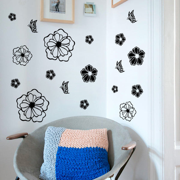 3D Butterflies and Flower Wall Decals - Limited Supply!