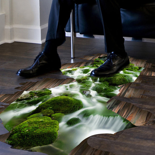 Amazing 3D Stream Mural Decal