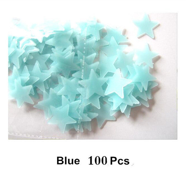 3D Glowing Star Stickers - 100 Pieces - Special Offer