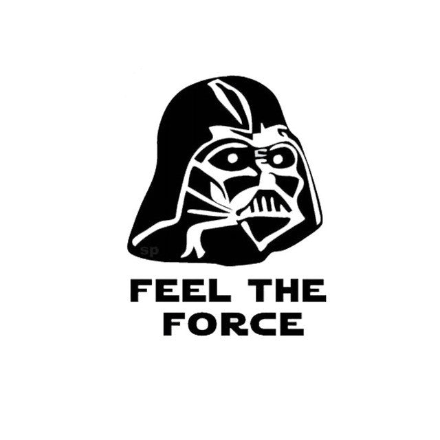Funny Feel The Force Toilet Decal