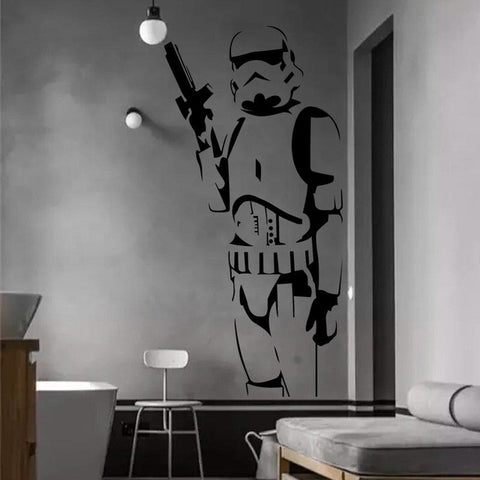 DIY 3D Storm Trooper Wall Decal