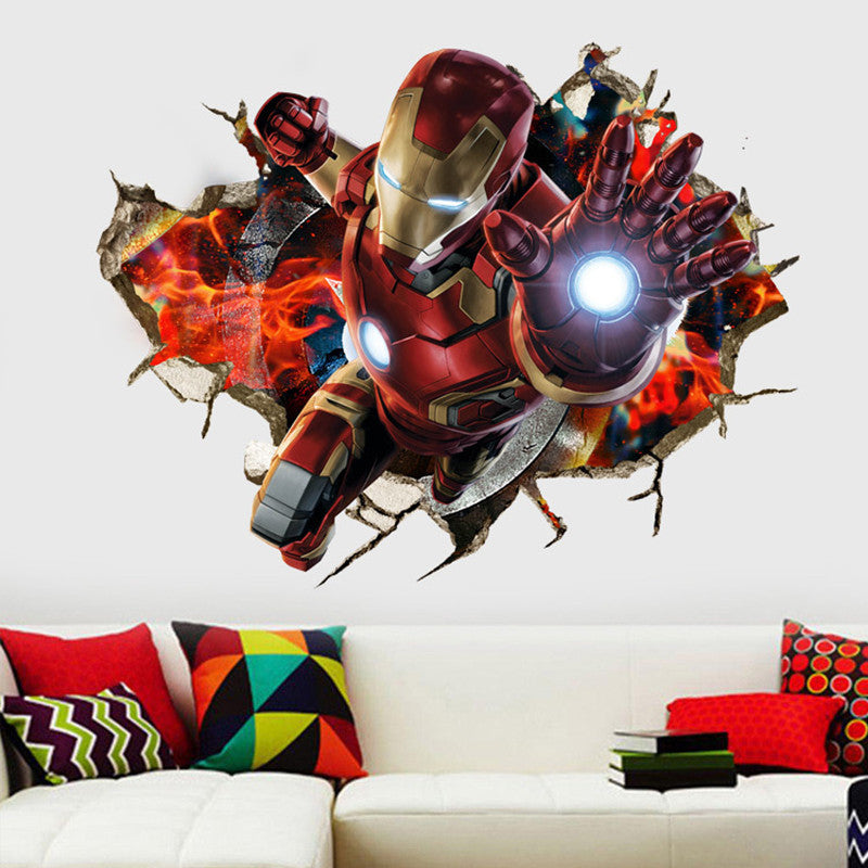 Marvelous 3D Iron Man Wall Decal ... Part 7