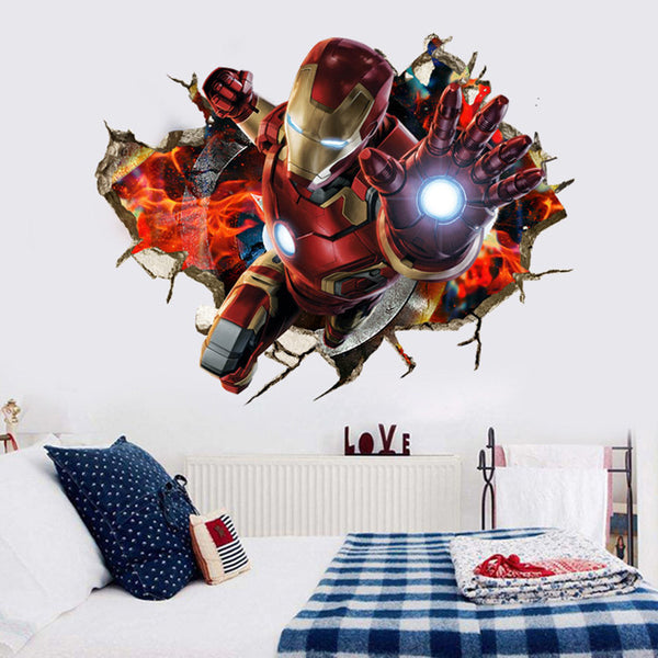 3D Iron Man Wall Decal