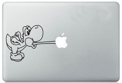 Cool Yoshi Eating Logo MacBook Decal