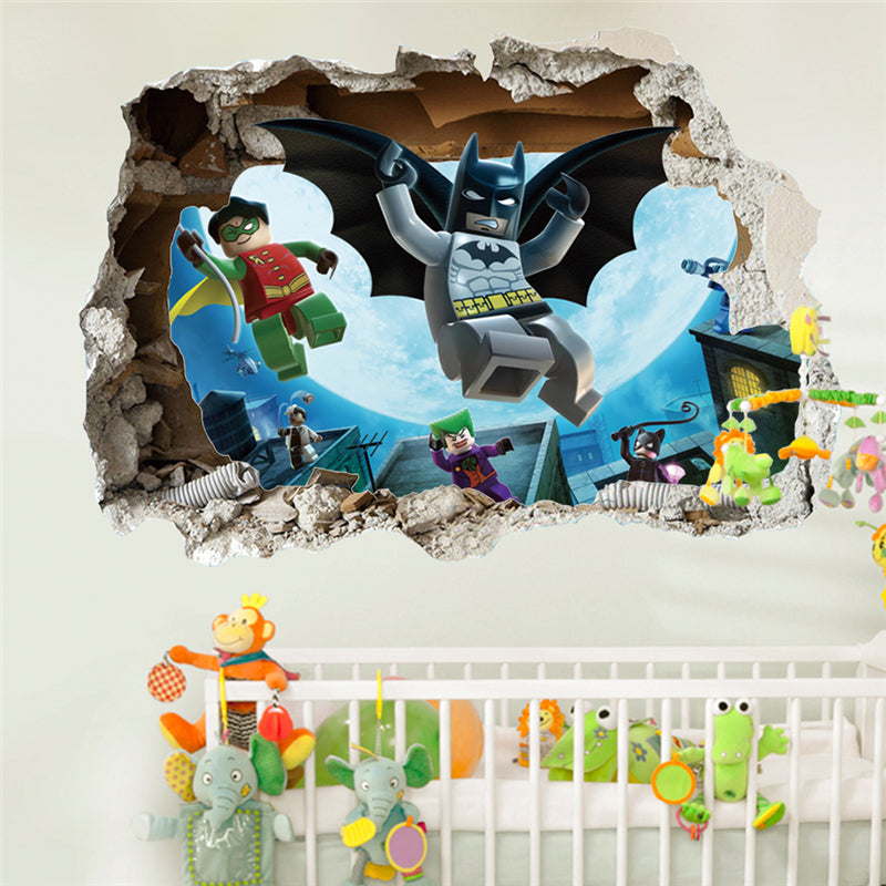 Lego Batman Broken Wall Decal - The Decal House