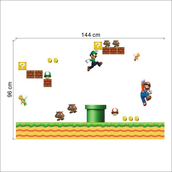 Super Mario Bros Wall Decals – Limited Edition