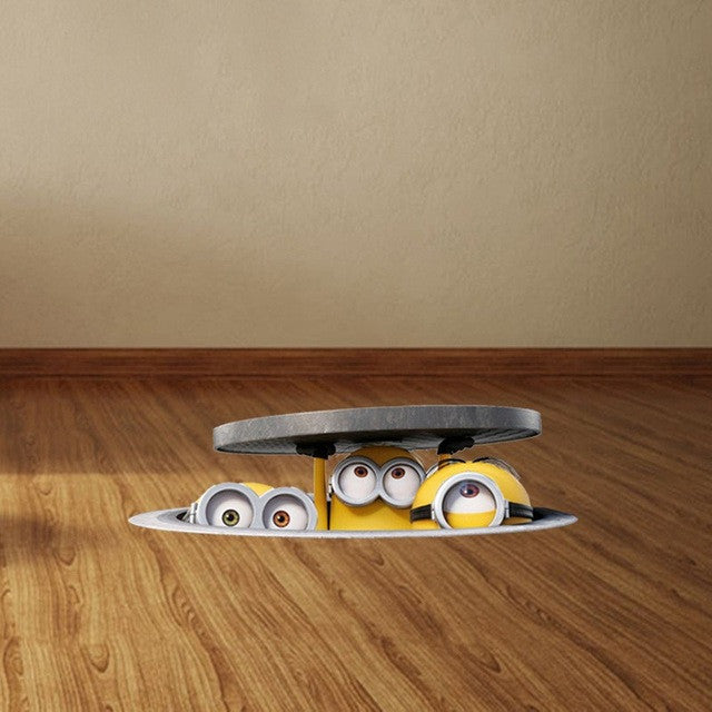 3D Minions Floor Ceiling Decal - EXTREMELY LIMITED
