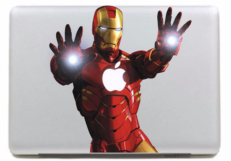 Cool Iron Guy MacBook Cover Decal