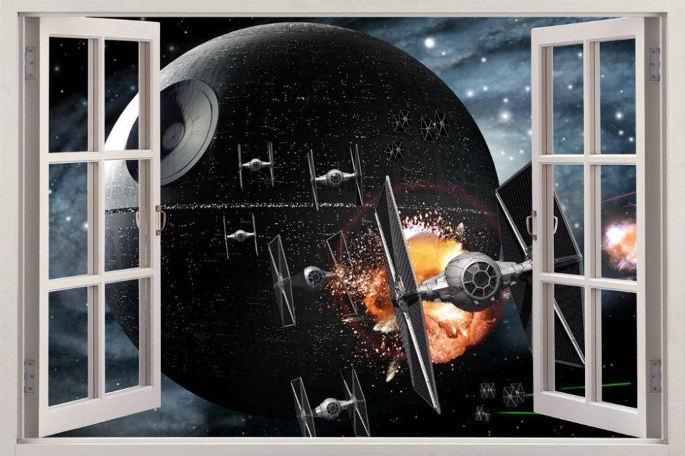 Cool 3D DEATH STAR Window Decal - Limited Supply!