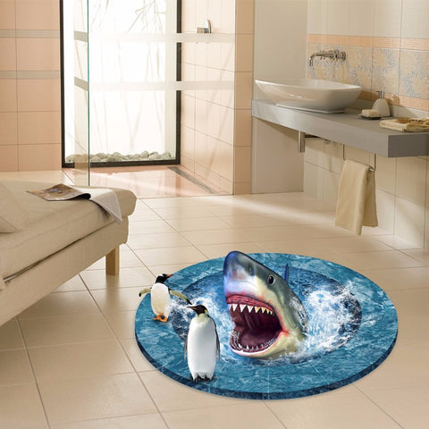 3D Shark Penguins Decal