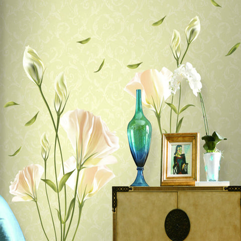 Beautiful Lily Flowers Wall Decals