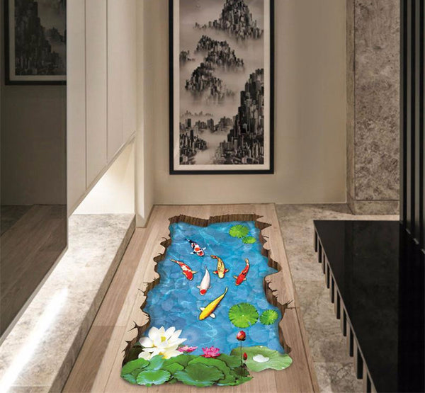 Sweet 3D Koi Pond Decal - Special Edition