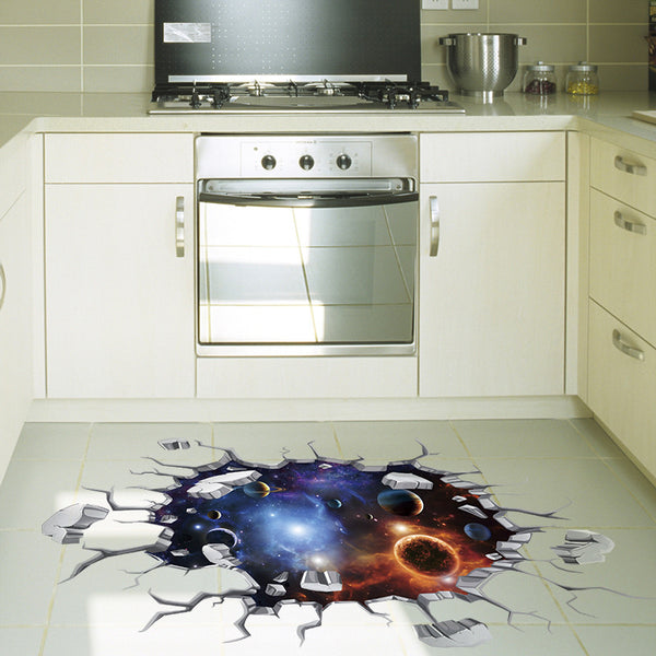 3D Universe Celestial Body Ceiling Floor Decals