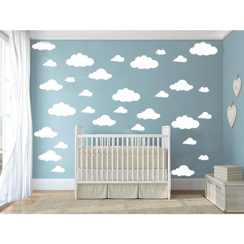 DIY Clouds Wall Decals  - 31 Pieces!