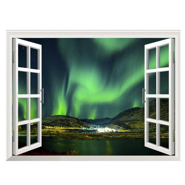3d outer space window wall decals the decal house for House outer wall design