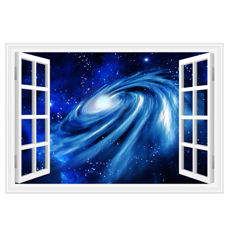 3d outer space window wall decals the decal house for 3d outer space