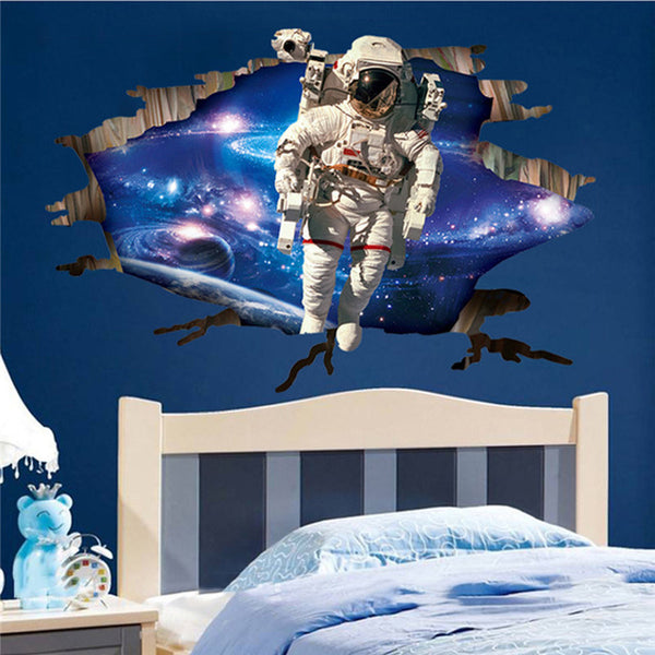 3D Outer Space Planet Wall Decals