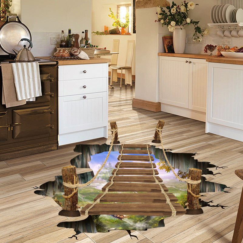 Crazy 3D Drawbridge Floor Decal - Limited Edition