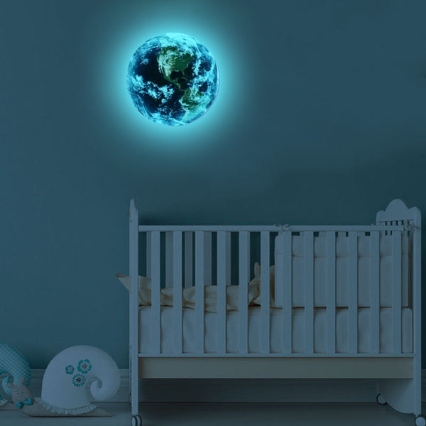 Luminous Blue Earth 3D Wall Decal