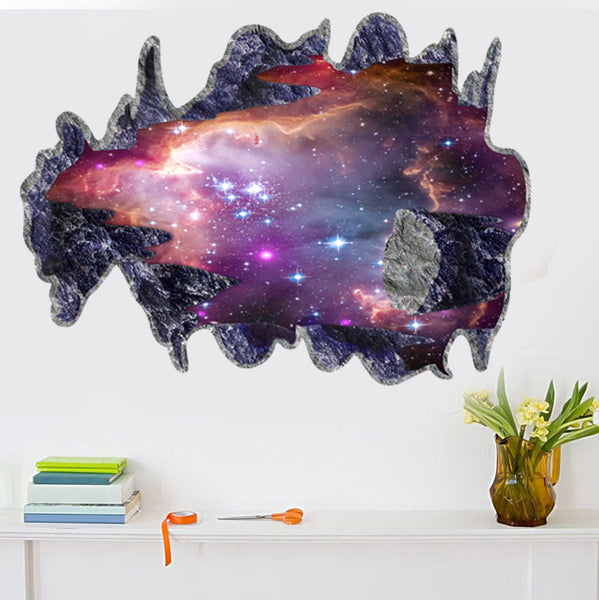 3D Removable Galaxy Wall Decal