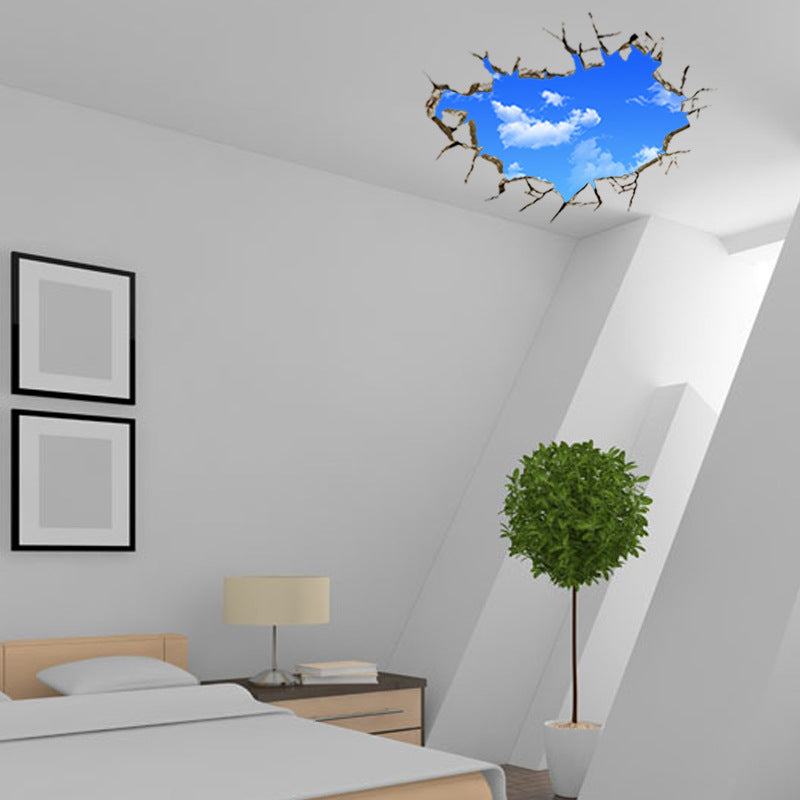 Creative 3D Blue Sky Clouds Wall Decal