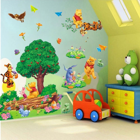 Adorable Winnie The Pooh DIY Wall Decal