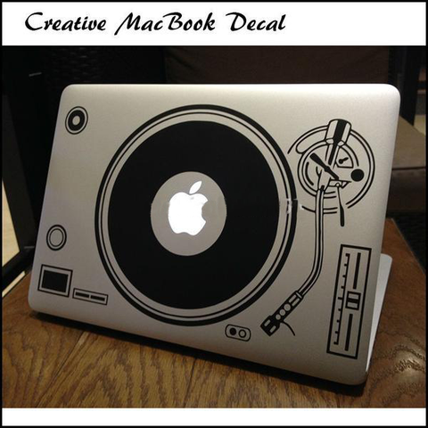 DJ Deck Record MacBook Decal