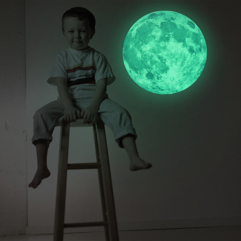 Glow In The Dark Moon Space Wall Decal
