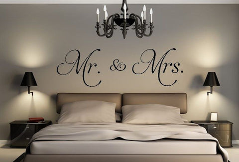 Lovely Mr & Mrs Quote Wall Decal