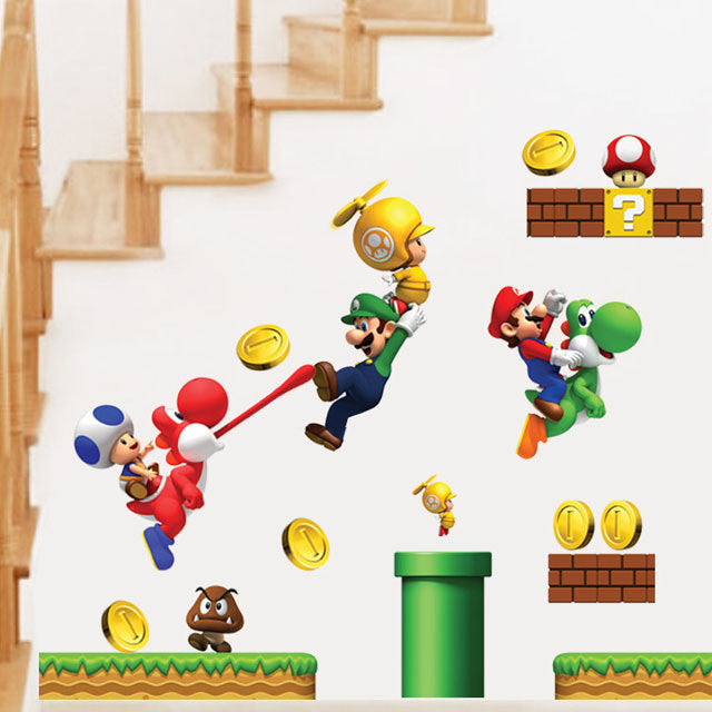 ... Super Mario Bros Wall Decals U2013 Limited Edition D